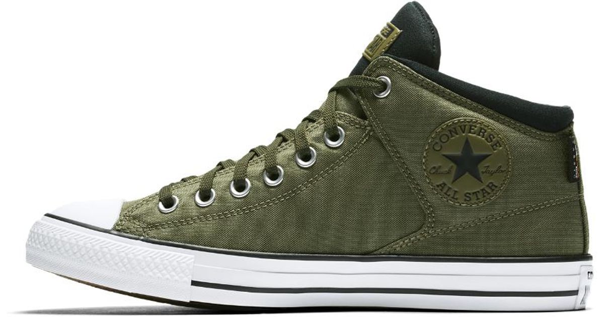 Lyst - Converse Chuck Taylor All Star Cordura High Street High Top Men s  Shoe in Green for Men 224fdf448