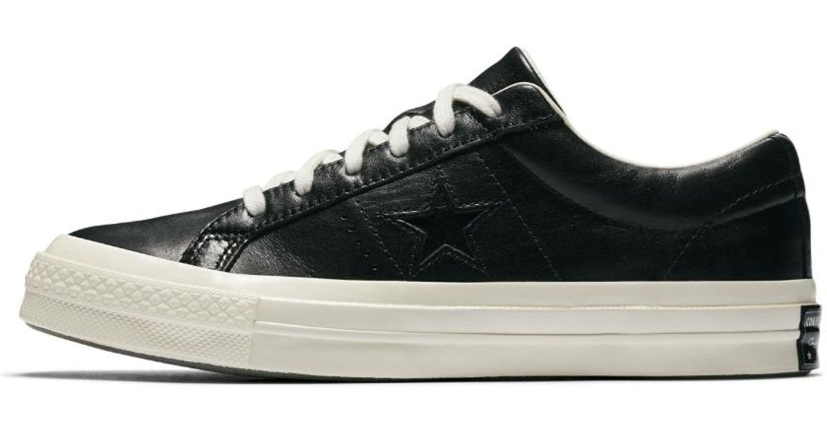 Converse Black One Star Leather And Tapestry Shoe for men