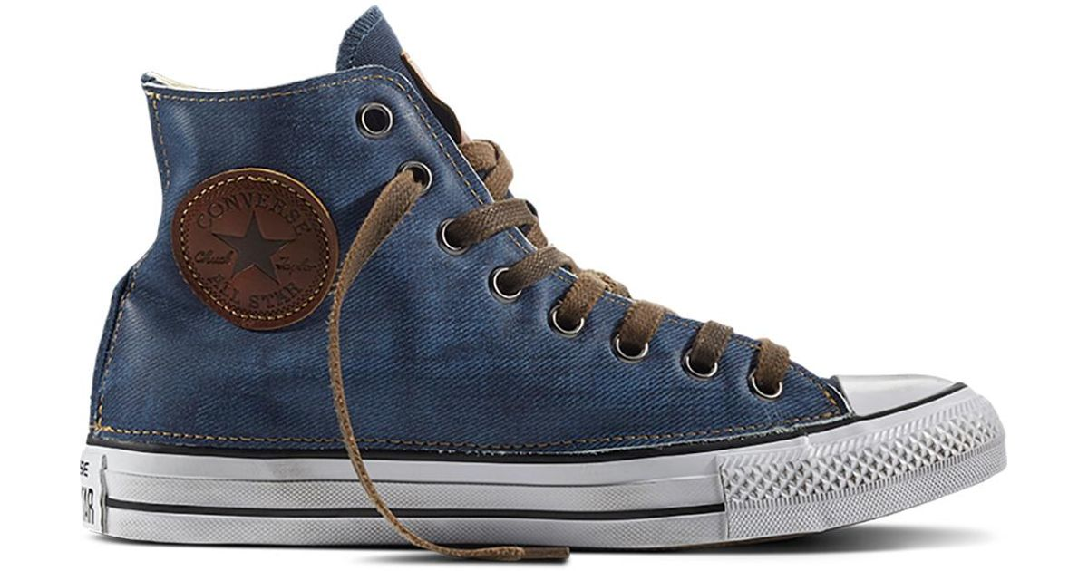 db8d43d65d4 Converse Chuck Taylor All Star Vintage Denim in White - Lyst