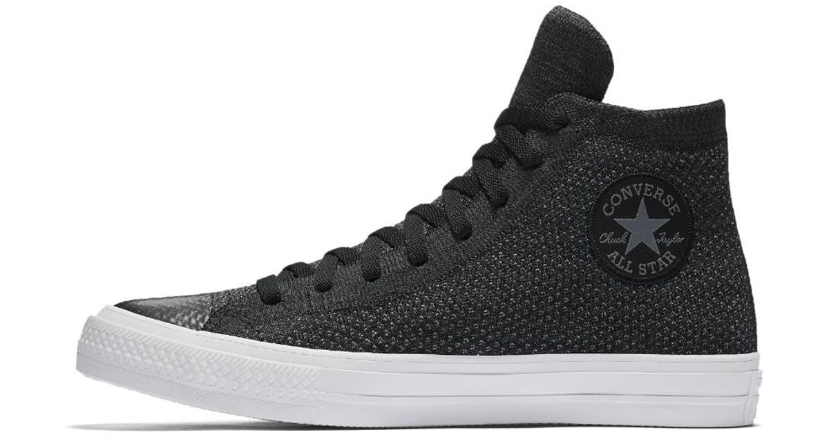 Lyst - Converse Chuck Taylor All Star X Nike Flyknit High Top Shoe in Black  for Men 2f897019b