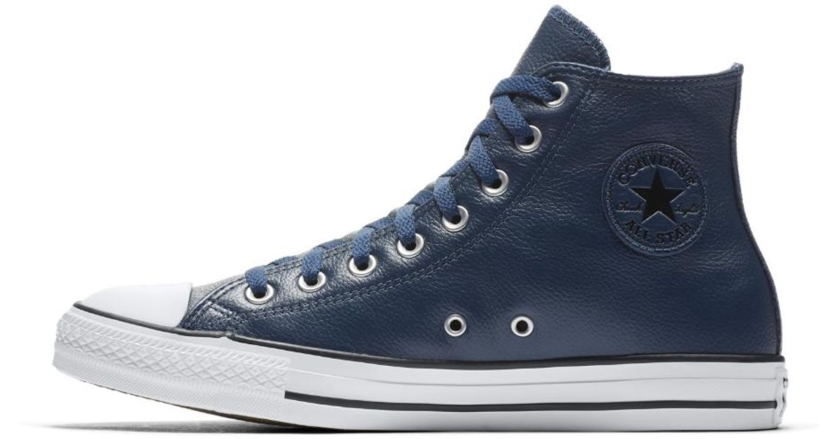 837d51503084 Lyst - Converse Chuck Taylor All Star Post Game Leather High Top Shoe in  Blue for Men