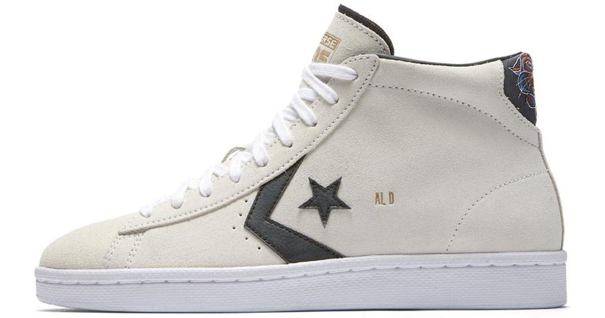 abba23e1292238 Lyst - Converse Pro Leather Al Davis Suede High Top Men s Skateboarding Shoe  in White for Men