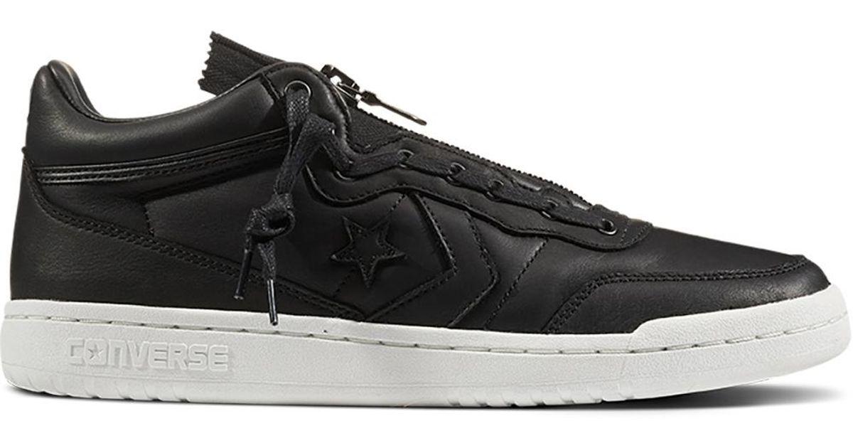 Converse - Black Fastbreak Leather Mid Zip for Men - Lyst ee9a9eed8