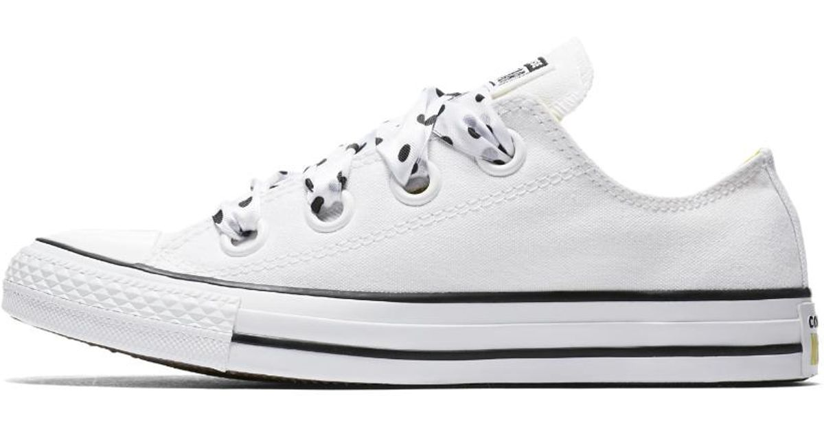 3a89a64c1acb26 Lyst - Converse Chuck Taylor All Star Big Eyelets Low Top Women s Shoe in  White