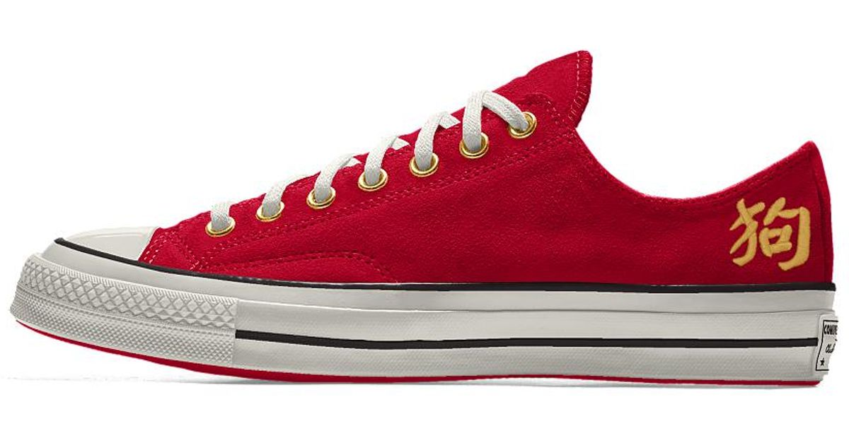 8091780fa504 Lyst - Converse Custom Chuck 70 Suede Chinese New Year Low Top Shoe in Red