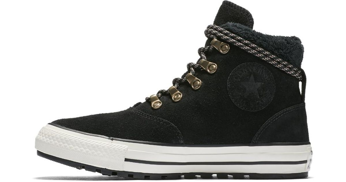 Converse Black Chuck Taylor All Star Ember Boot Suede And Faux Fur High Top Women's Shoe