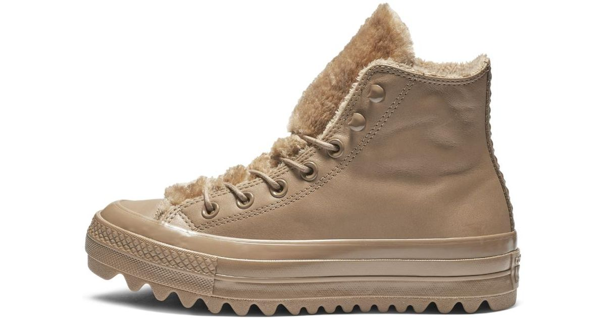 6d974bf376b Lyst - Converse Chuck Taylor All Star Street Warmer Ripple High Top Women s  Shoe in Brown