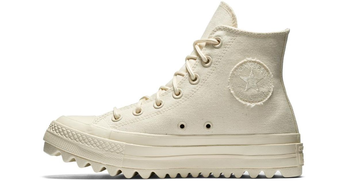 e8c71bb51abf Lyst - Converse Chuck Taylor All Star Lift Ripple Canvas High Top Women s  Shoe in Natural