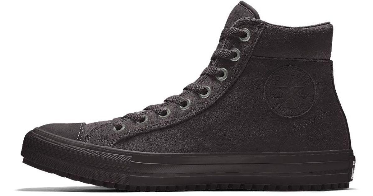7f7dbb85a2b3 Lyst - Converse Custom Chuck Taylor Winter Boot in Black for Men