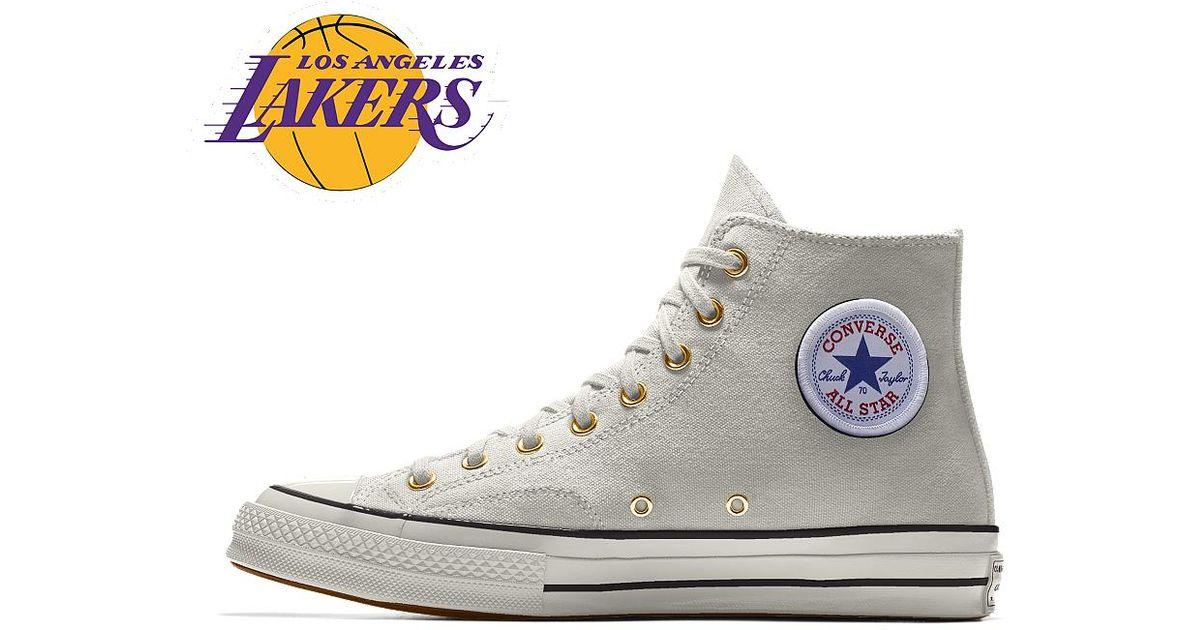 13e363ef42 Converse Custom Chuck 70 Nba High Top Shoe in White for Men - Lyst