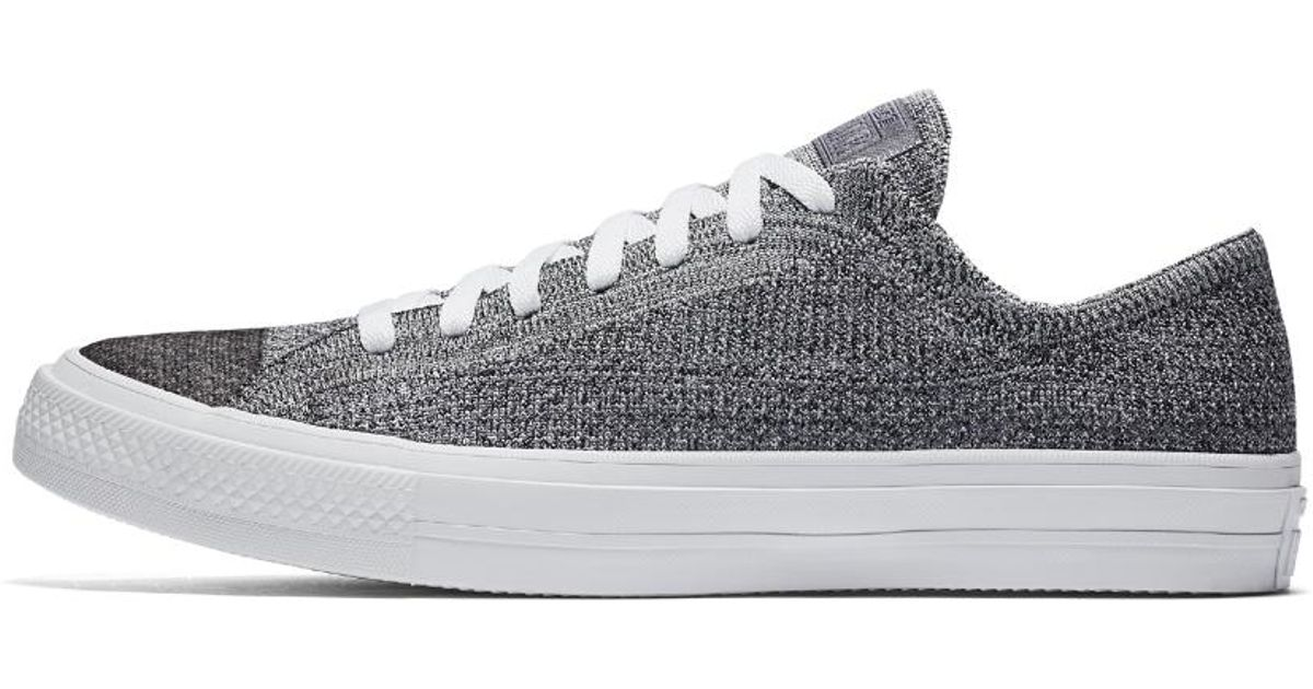 90ff90b2dcd37a Lyst - Converse Chuck Taylor All Star X Nike Flyknit Low Top Shoe in White