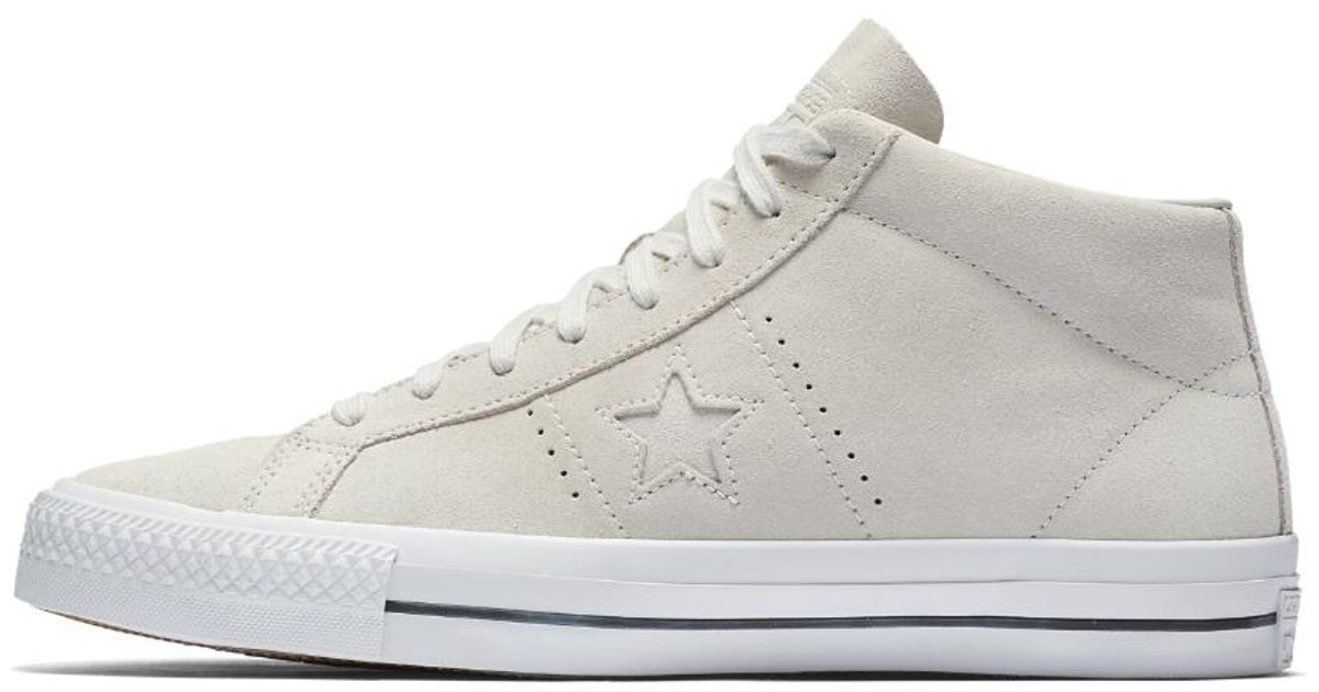 017daec58cd3 Lyst - Converse One Star Pro Oiled Suede High Top Men s Skateboarding Shoe  in Gray for Men