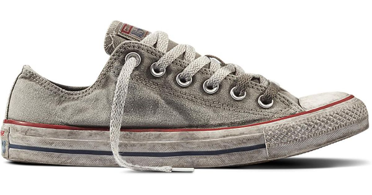 03159bfb9d31 Converse Chuck Taylor All Star Basic Wash in Gray - Lyst
