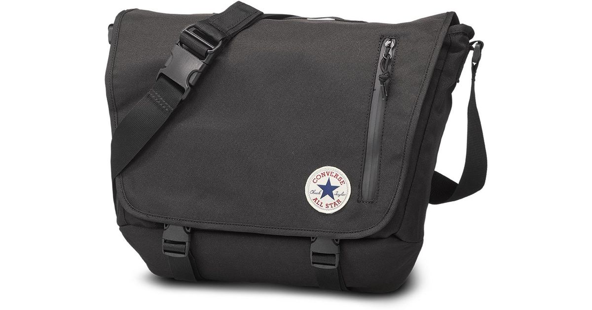 87aa7f81ba0 Converse Chuck Taylor All Star Messenger Bag in Black for Men - Lyst