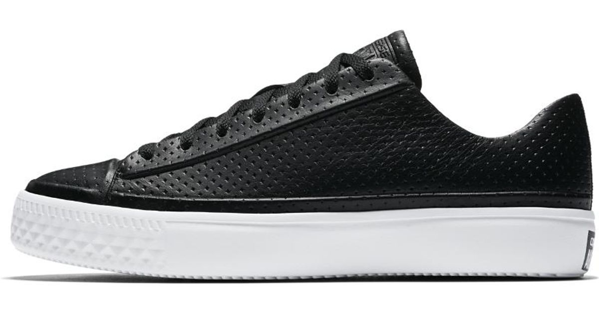 117fd97c10f3 Lyst - Converse Chuck Taylor All Star Modern Leather Low Top Men s Shoe in  Black for Men