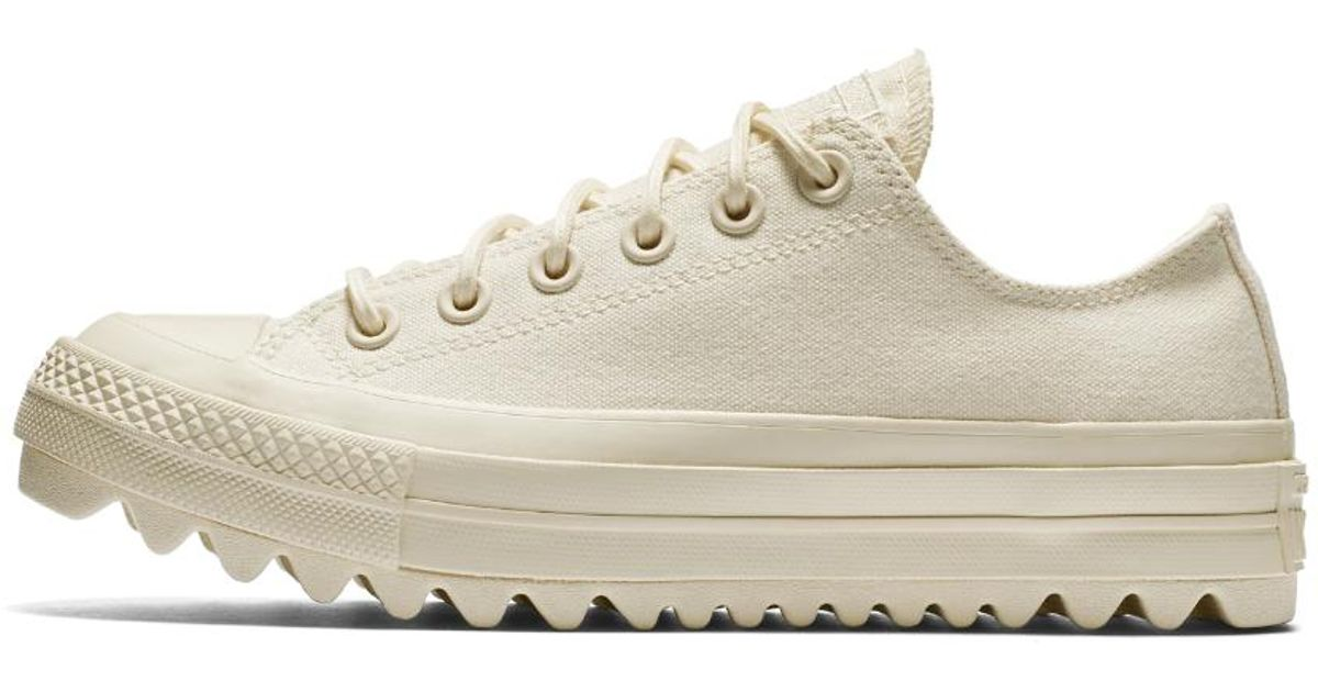 1c10e9209887 Lyst - Converse Chuck Taylor All Star Lift Ripple Canvas Low Top Women s  Shoe in Natural