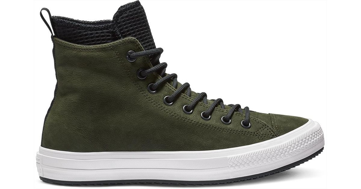 d409238edccf Converse Chuck Taylor All Star Waterproof Leather High Top in Black for Men  - Lyst