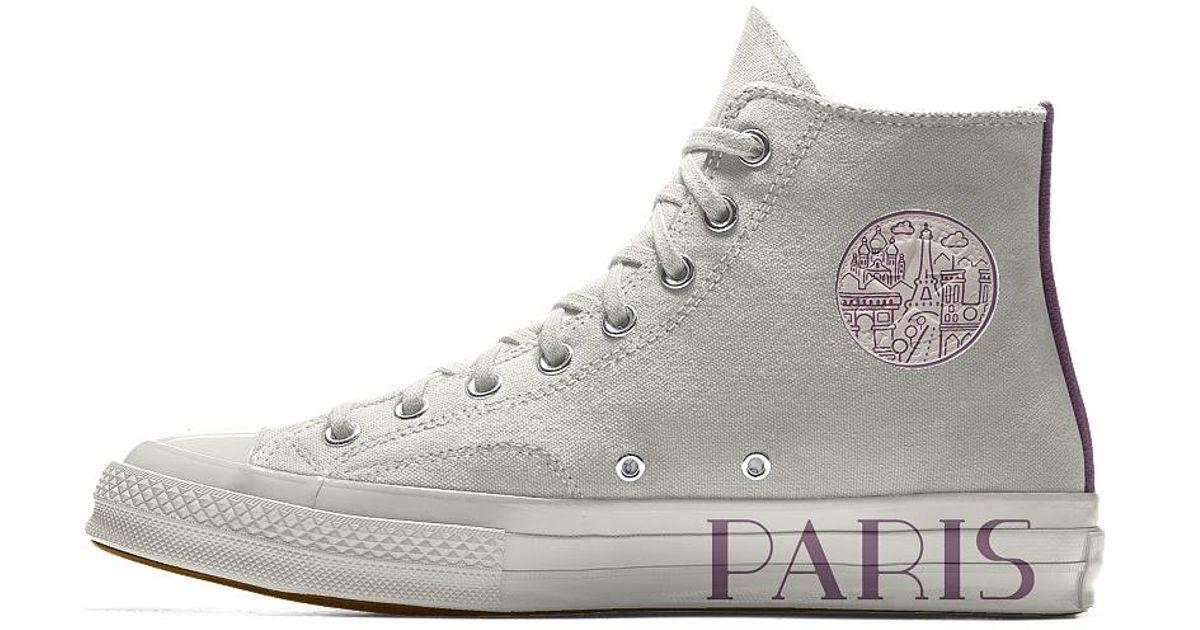 Lyst - Converse Custom Chuck 70 Paris Edition High Top Shoe in Gray for Men 2856f60b9