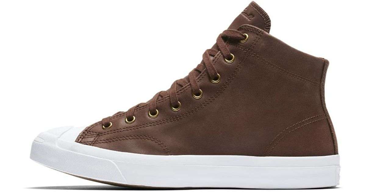 2c8226d42e9b Lyst - Converse Jack Purcell Mid Boot Leather High Top Men s Shoe in Brown  for Men