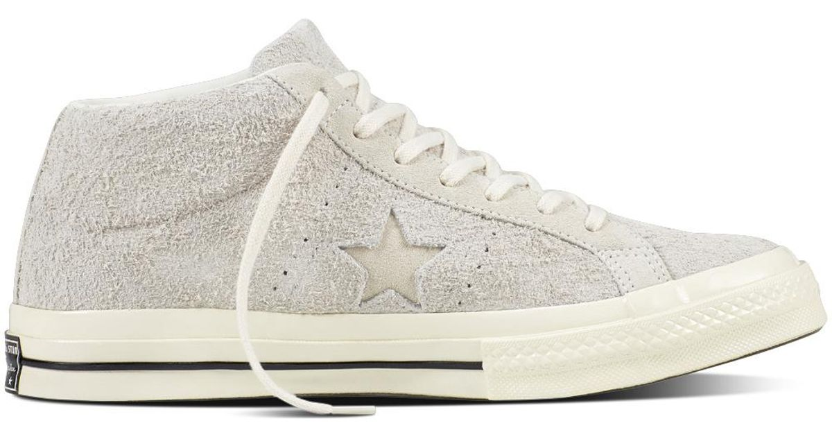 0a1afa8abf41 ... 50% off converse one star mid vintage suede in white lyst 2563e 8eed2