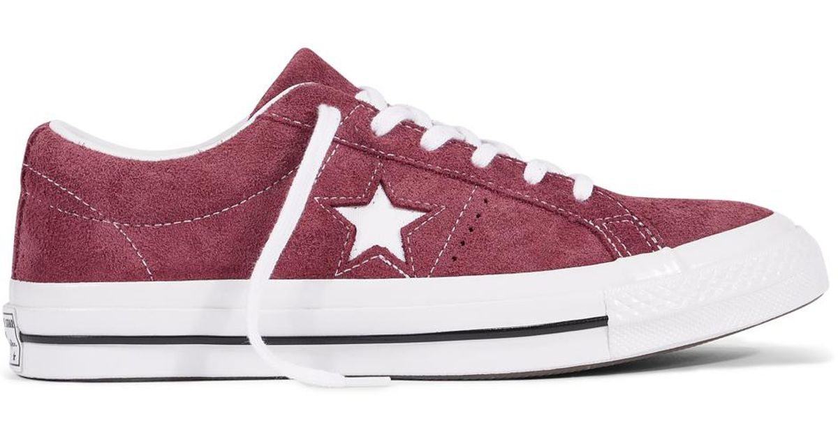 011d7b06ded859 Converse One Star Premium Suede in Red - Lyst
