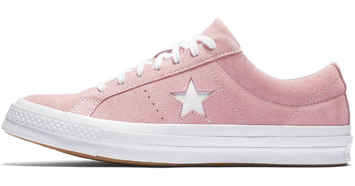 Lyst - Converse One Star Classic Suede Low Top Shoe in Pink dcaf13b18