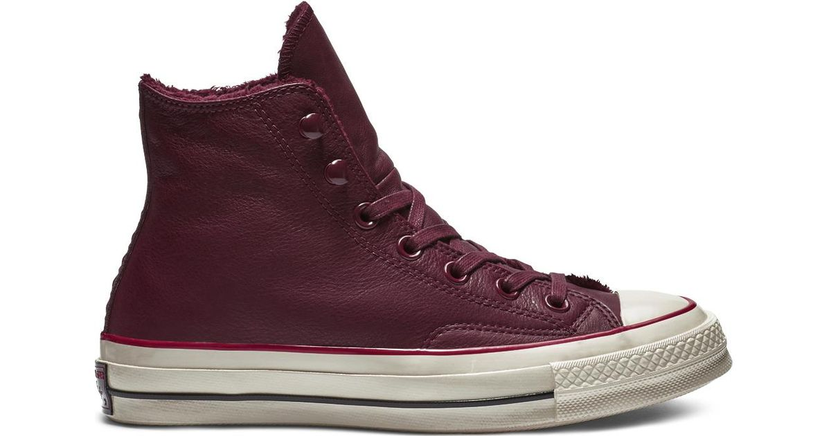 2cf36b814d3683 Converse Chuck 70 Street Warmer Leather High Top in Red for Men - Save 69%  - Lyst
