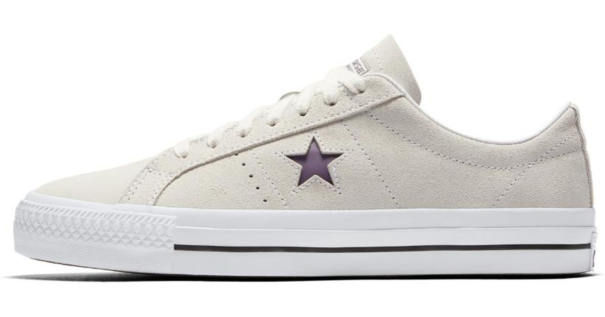 Lyst - Converse One Star Pro Suede Low Top Men s Shoe in White for Men efcbe57aa
