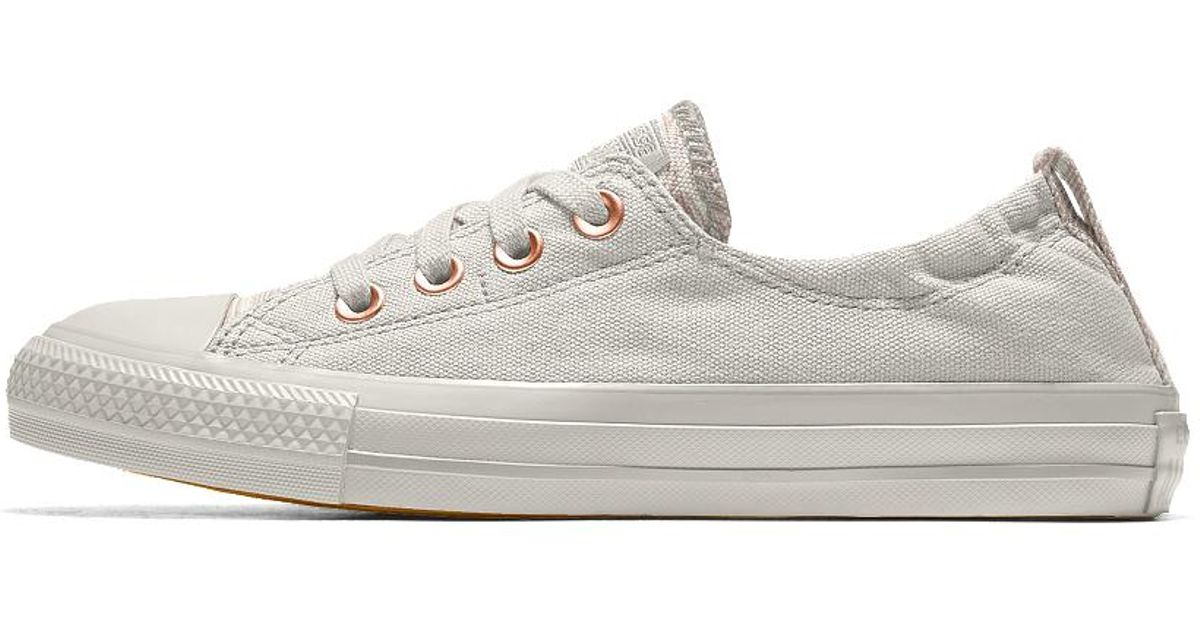 551ee4dd6d7f Lyst - Converse Custom Chuck Taylor All Star Shoreline Women s Slip-on Shoe  in White