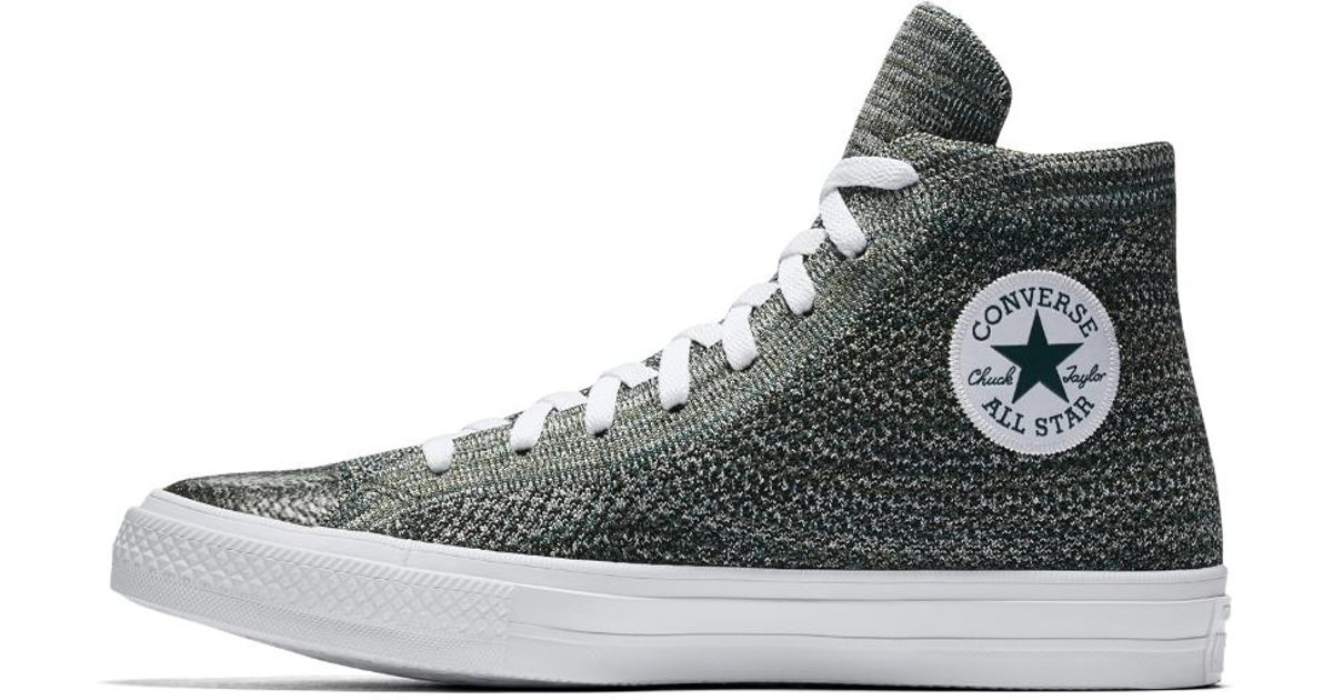 Lyst - Converse Chuck Taylor All Star X Nike Flyknit High Top Shoe in Green  for Men 63f72ed3f