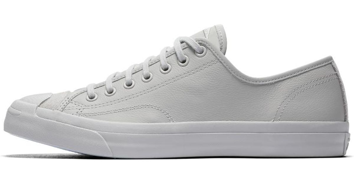 9606f7272959 ... discount lyst converse jack purcell leather mono low top shoe in gray  for men 35e31 17d7f