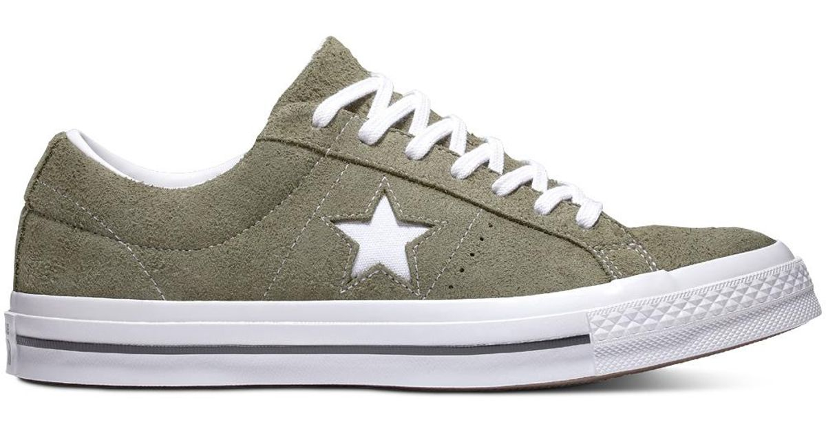 5e61bf413bdae8 Converse One Star Vintage Suede Low Top in Green for Men - Lyst