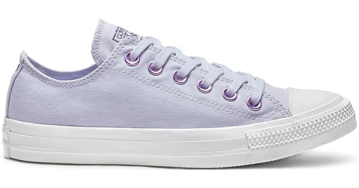 4139fc44176cf6 Converse Chuck Taylor All Star Hearts Low Top in Purple - Lyst