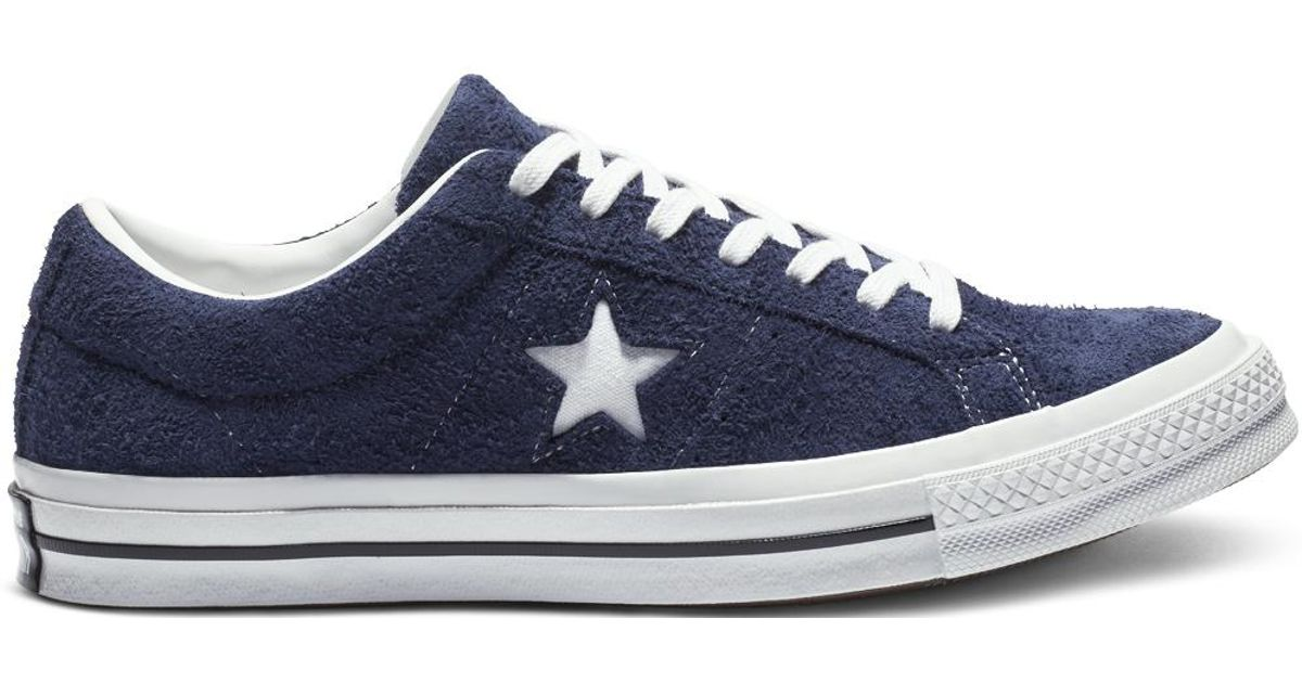 5f3a3e3419db Converse One Star Vintage Suede Low Top in Blue for Men - Lyst