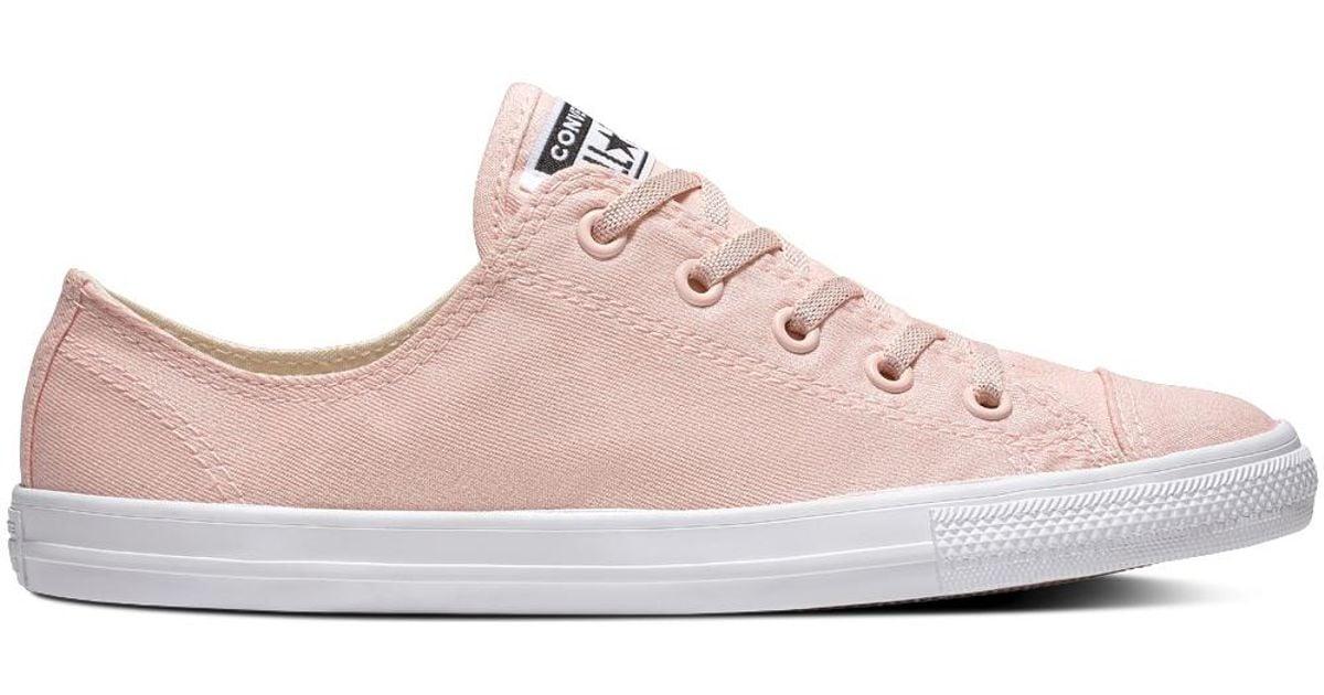 320971ff25da Converse Chuck Taylor All Star Dainty Precious Metals Textile Low Top in  Pink - Lyst