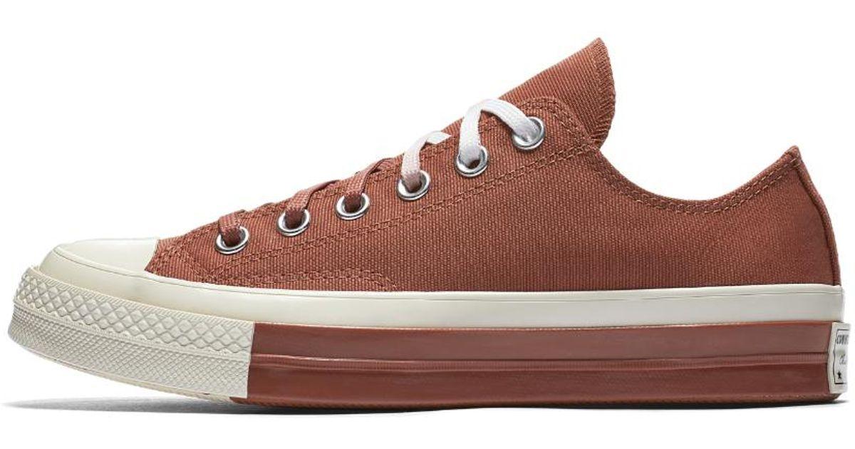 a6cbe540e53a Lyst - Converse Chuck 70 Super Color-block Low Top Women s Shoe in Red
