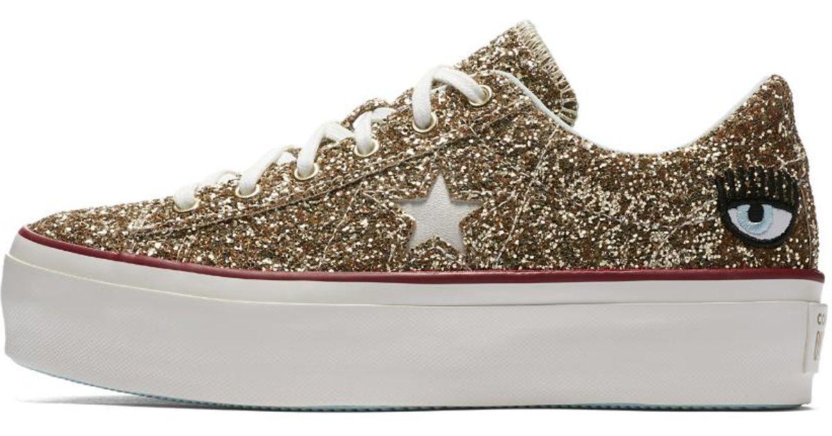 541def329b38 Lyst - Converse X Chiara Ferragni One Star Platform Low Top Women s Shoe in  White