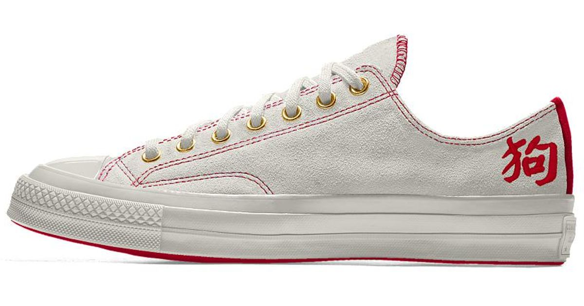 19d75a1ebb3 Lyst - Converse Custom Chuck 70 Suede Chinese New Year Low Top Shoe in  White for Men