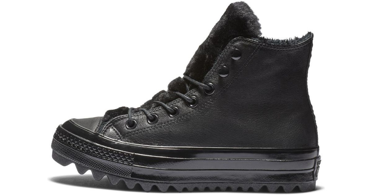 89256993820 Lyst - Converse Chuck Taylor All Star Street Warmer Ripple High Top Women s  Shoe in Black