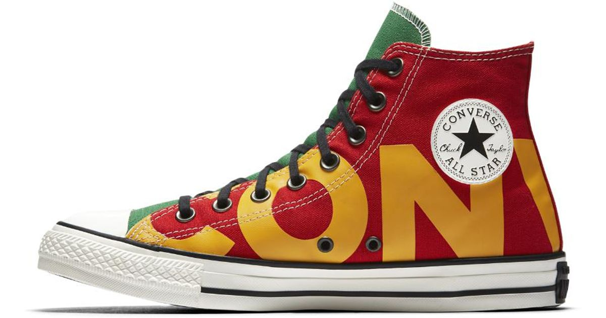 Converse Red Chuck Taylor All Star Wordmark High Top Men's Shoe for men