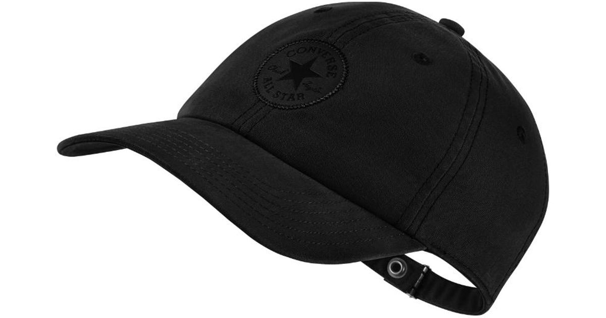 Lyst - Converse Monotone Core Adjustable Hat (black) in Black for Men 30dee04c9a9