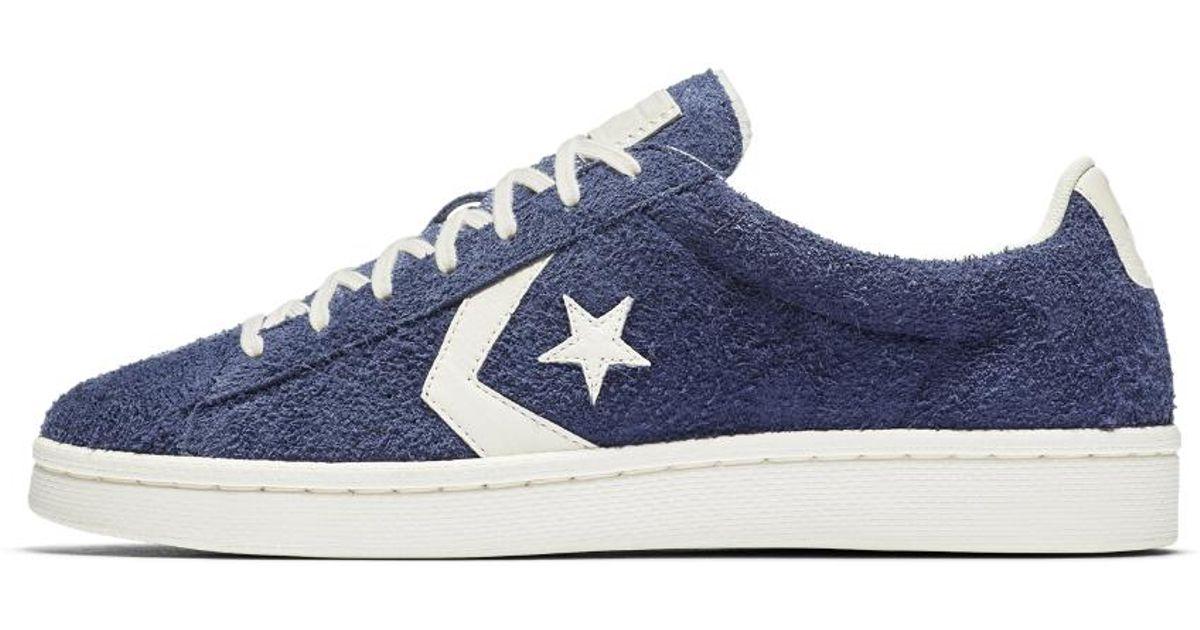 575d4a8f9a7 Lyst - Converse Pro Leather Vintage Suede Low Top Men s Shoe in Blue for Men