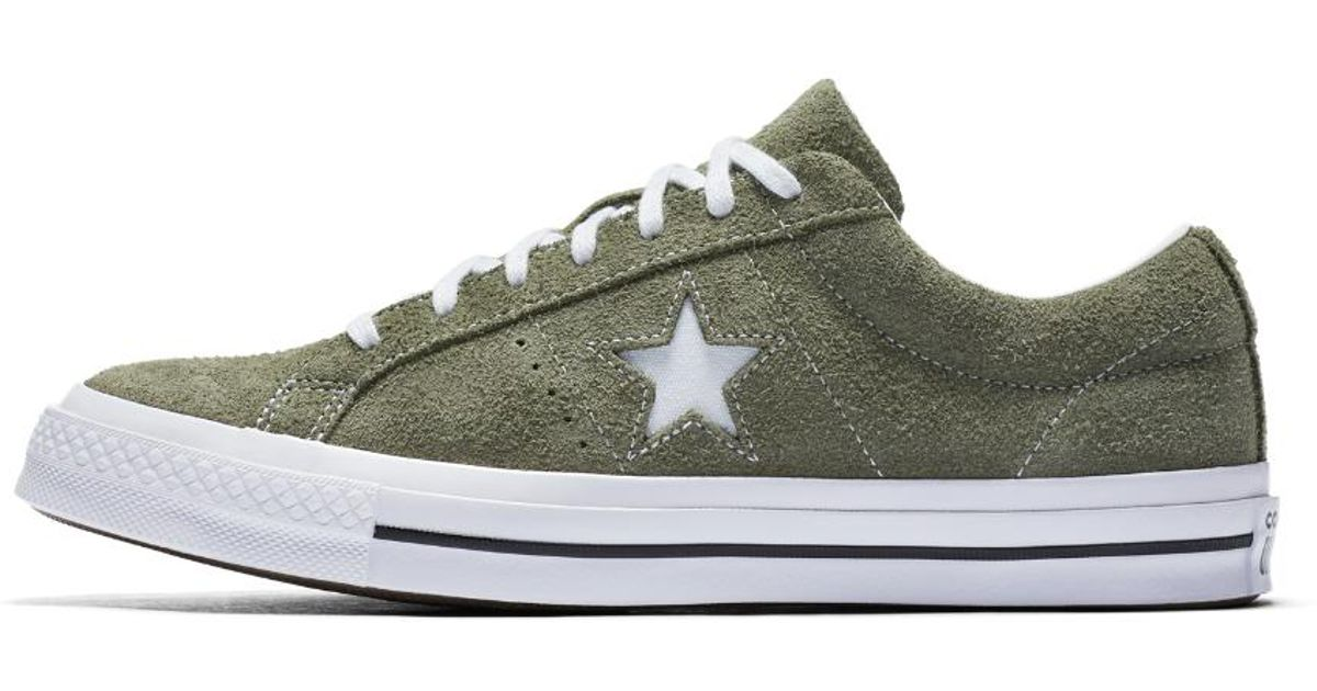 8606e8517db5 Lyst - Converse One Star Vintage Suede Low Top Men s Shoe in Green for Men