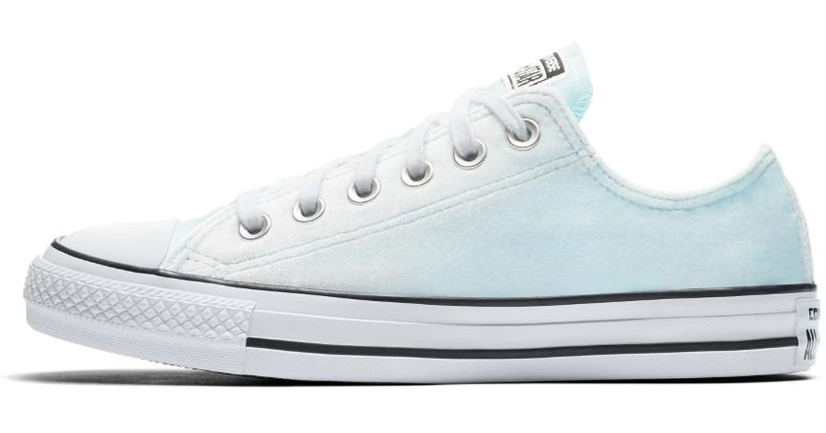 089569cc7e87 Lyst - Converse Chuck Taylor All Star Velvet Low Top Women s Shoe in White