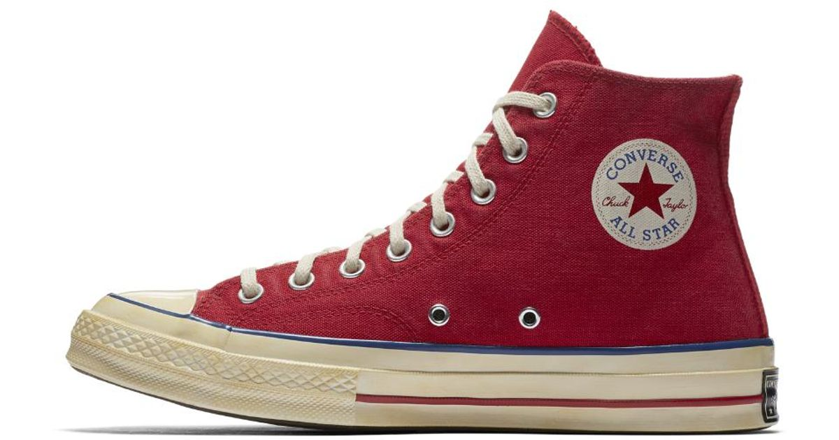 7c0d342e81a1 Lyst - Converse Chuck 70 Vintage Canvas High Top Shoe in Red for Men