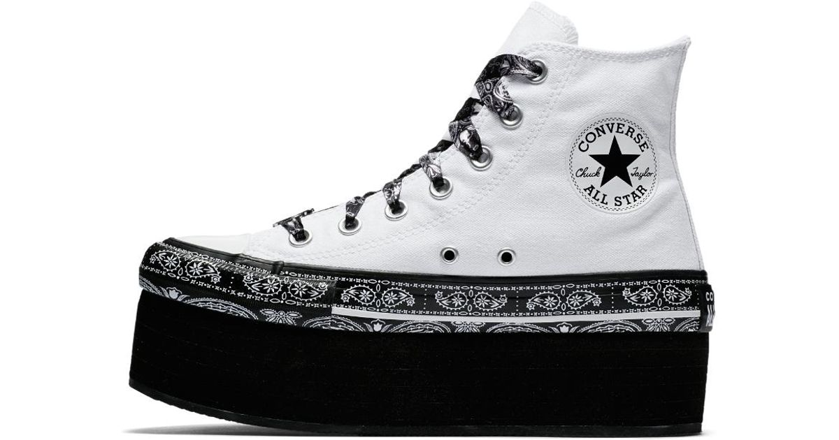 9c305ced4b9 Lyst - Converse X Miley Cyrus Chuck Taylor All Star Platform High Top  Women s Shoe in White