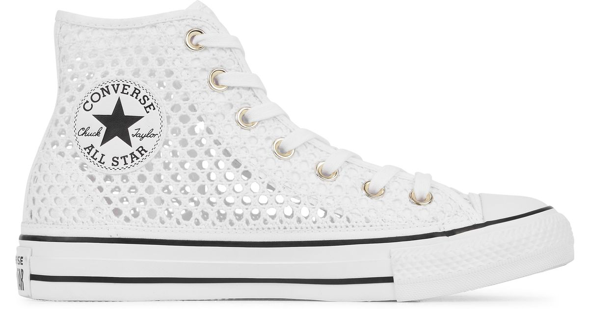 2321fd999 Converse Chuck Taylor All Star Crochet High Top in White for Men - Lyst