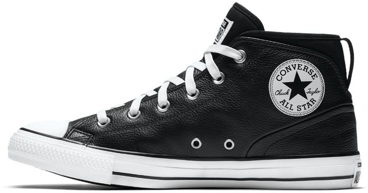 Lyst - Converse Chuck Taylor All Star Syde Street Leather High Top Men s  Shoe in Black for Men 1d4759f81
