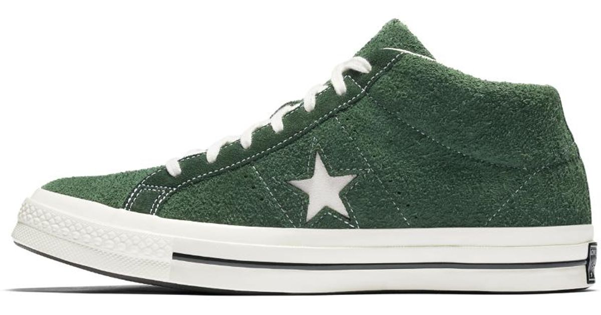 af15a56a9c1 ... get lyst converse one star 74 mid vintage suede shoe in green for men  df8ed d9065
