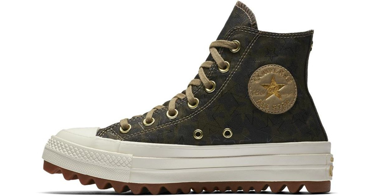 50da8801e3af Lyst - Converse Chuck Taylor All Star Lift Ripple Camo High Top Women s Shoe  in Brown